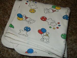 30x30 Vintage Carter's Bear Balloons Stars Receiving Swaddle Baby Crib Blanket