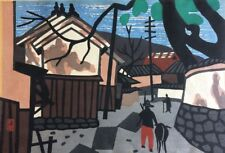 "Kiyoshi Saito signed ""Village in Aizu"" woodblock print"