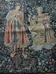 The Concert French Renaissance Wall Tapestry Made in Belgium by Ter Waes 25 x 33