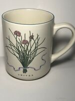 Woodbine Meadows Compliments Coffee Mug 'Chives' Ceramic Cup Herb Garden