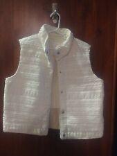 Xhilaration Girls Sleevless Vest Jacket Off White Size XL 14/16