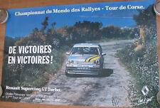 215 . 1 X AFFICHE : 98 X 62 CM . RENAULT SUPER 5 GT TURBO . TOUR DE CORSE .