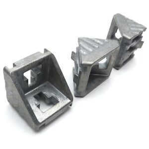 Lot of 3 Bosch 3842523558 Extrusion Corner Bracket 90° 10mm TSlot 43 x 41 x 41mm