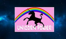 Unicorn Power Fridge Magnet. NEW. Funny Sign. Fantasy