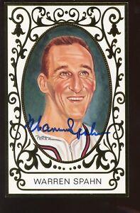 1990 Perez Steele Baseball Postcard Ramly Warren Spahn Autographed Hologram