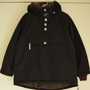 MINi A TURE Mantel Jacke 116 1222 Kapuze Anorak Junge schwarz Windbreaker wasser