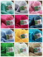 Hot 50g Woolen Yarn Soft Baby Natural Bamboo Cotton Hand Knitting Crochet Yarn