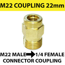 M22 male Screw Thread 22mm to 1/4 female Screw Coupling connector - SOLID BRASS