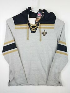 Women's New Orleans Saints Antigua Hoodie Heathered Pullover Top XL💥NEW💥