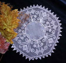 Antique Handmade Italian Lace Doily / Centerpiece From Bosa Sardinia