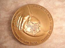 MÉDAILLE Bronze FÉDÉRATION FRANÇAISE DONNEURS De SANG Hommage