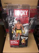"NECA ROCKY III ROCKY BALBOA (GOLD TRUNKS) 7"" SCALE ACTION FIGURE (2012)"