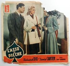 fotobusta lobby card L'ASSO DI PICCHE LEW LANDERS DIX CARTER THE ROWER  WHISTLER