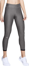 Under Armour HeatGear Cropped Womens Compression Tights Grey Gym Workout Tight