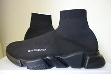 Balenciaga Speed Sock Trainer UK11 US12 Stretch knit Triple Black New Genuine