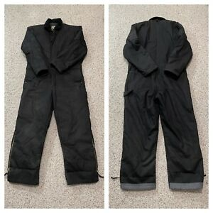 Walls Work Wear Men's XL Insulated Heavy duty Coveralls 100% cotton Black  *Nice