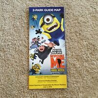 Vintage Universal Studios Florida Brochure from 2012 Despicable Me Grand Opening
