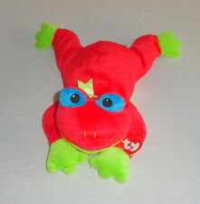 New TY Pillow Pals RIBBIT Plush Red Frog Pal 1998 MINT P24