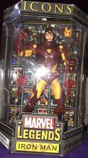 "Marvel Legends Iron Man Icons Gold variant ToyBiz 2006. 12"" Action Figure"