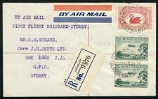 Australian Aerophilately - 1 Jan.1930 (AAMC.149) Bris - Syd Registered 1st Cover