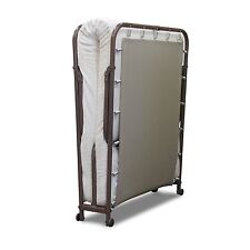 Portable Folding Rollaway Guest Metal Bed Frame & Mattress Set Day bed Guest Bed