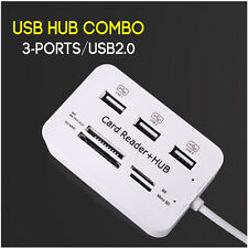 Micro USB Hub Combo 2.0 3 Ports Card Reader All In One USB Splitter for PC New