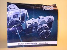 Original(!) Canon PELLIX Sales Brochure 1966 - in Swedish!