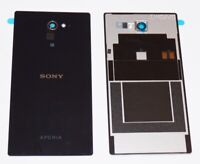 Original Sony Xperia M2 (D2303) Akkudeckel, Battery Cover + NFC, Schwarz, black