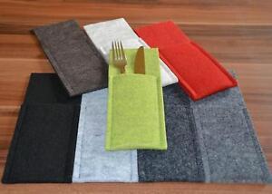 Bestecktasche / Serviettentasche aus Filz -made in Germany + +Farbe wählbar !
