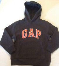 NEW GAP BOYS LOGO CHARCOAL GRAY PULLOVER HOODIE SIZE SMALL 6 7