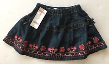 NWT Gymboree Peruvian Doll 2T Embroidered Flower Denim Bloomer Skirt
