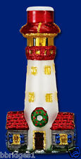 *Lighthouse* [52015] Old World Christmas Glass Light Cover - NEW