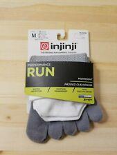 Injinji Performance 2.0 Run No Show Toe Socks Men's Medium Midweight Cushion