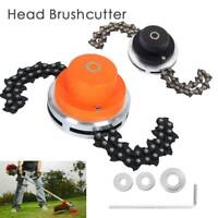 Trimmer Head Coil Chain Brush Garden Grass Trimmer Replace For Lawn Mower 65Mn