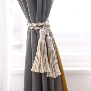 1Pcs Macrame Tassels Curtain Tieback Handmade Curtain Holdbacks Rope Tie Backs