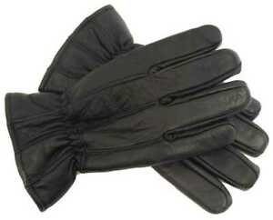Mens Genuine Leather Insulated Gloves Winter Gift Extra Hot Thermal Fleece Lined
