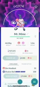 Mr. Mime Pokemon Trade Go Level 30+ Regional Pokémon Ultra League PVP High CP