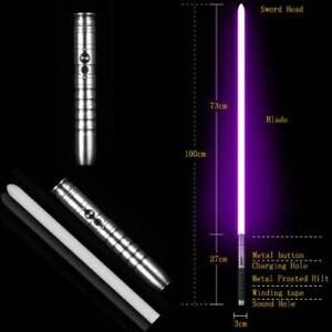 Light Saber Force FX Silver Metal Heavy Handle Jedi Replica Cosplay Uk Seller