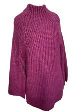 Monsoon Purple Chunky High Neck Warm Winter Jumper Small