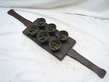 Set Early Brass Horse Hames Shaft Bells Set Sleigh Buggy Equestrian Instrument