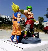 Dragon Ball Z Super Saiyan Broli VS Goku Figura de acción pintada Estatua Nuevo