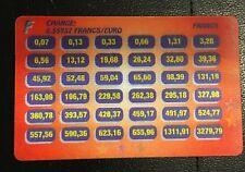 carte lenticulaire conversion convertisseur devises euros en francs