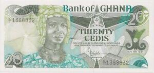 Ghana 1984 20 Cedis P# 24a Uncirculated