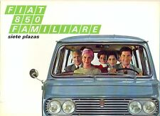 Fiat 850 Familiare Siete Plazas Spanish market sales brochure