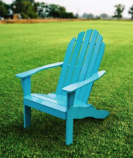 Wood Adirondack Chair Outdoor Patio Chaise Lounge Deck Reclined Bench Porch