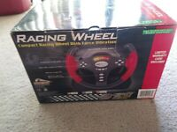 Playstation PS1 Racing Wheel Pelican GT2 Force Vibration Complete Box Freeship
