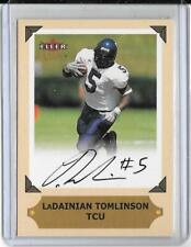 LaDAINIAN TOMLINSON 2001 FLEER ULTRA ROOKIE COLLEGE GREATS PREVIEW AUTOGRAPH