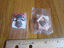 Resin Reindeer Gingerbread House Tiny Figures Jo-Ann Crafters Edition Christmas