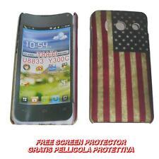 Pellicola + custodia BACK cover FLAG USA VINTAGE per Huawei Ascend Y300