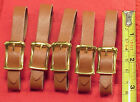 Vintage 3/8 Inch Brown Only Pocket Watch Fob Strap Genuine Leather FIVE PIECES